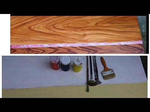 hướng dẫn pha màu và sơn giả gỗ từ a-z paint fake wood full from a to z góc nghệ thuật