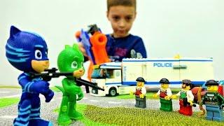 Герои в масках в команде с Лего Полиция. Игры для мальчиков