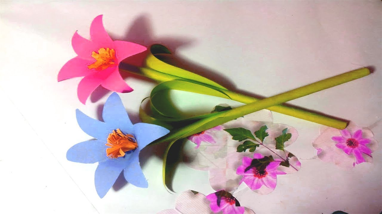 How to make simple paper flower diy simple paper flower tutorial how to make simple paper flower diy simple paper flower tutorial crafts design mightylinksfo