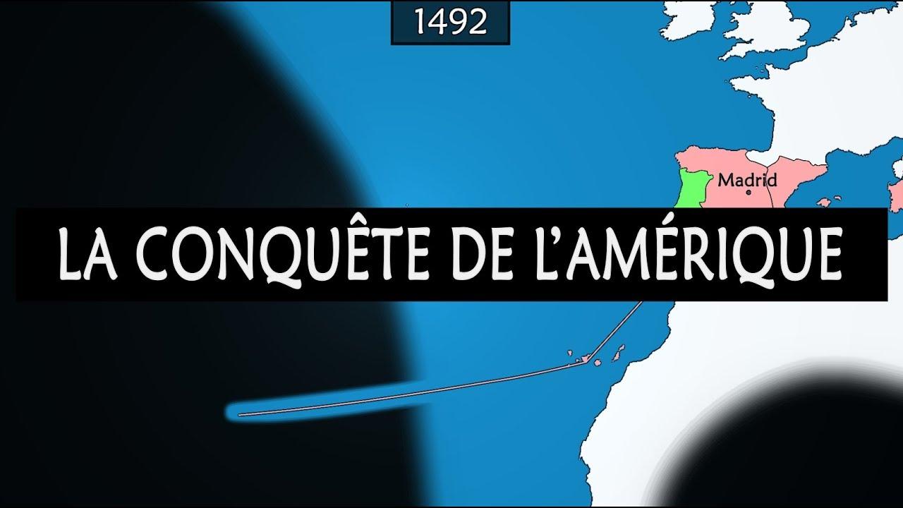 Carte Amerique Interactive.La Conquete Europeenne De L Amerique Resume Sur Carte