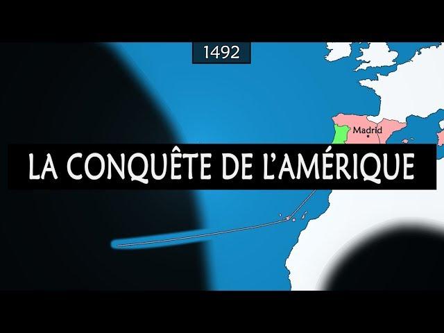 La conquête européenne de l'Amérique - Résumé sur carte