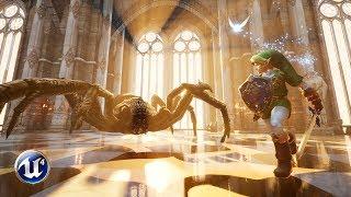 (old) Unreal Engine 4 - Zelda - Fighting Armogohma [4.16.1]