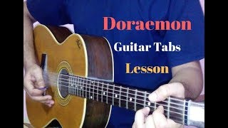 Doraemon guitar tabs lead lesson tutorial cover