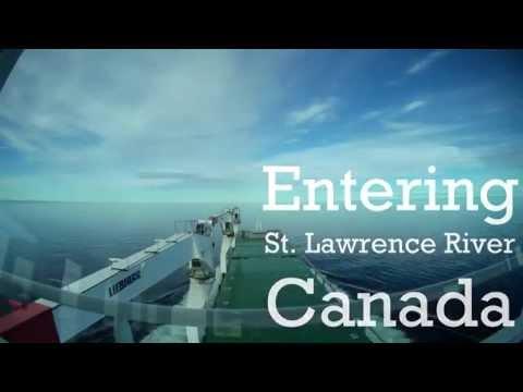 Sailing timelapse (St. Lawrence River)
