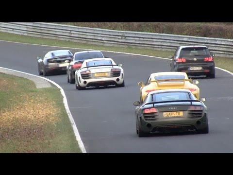 29.10.16 Action & nice cars - big Nürburgring tourists compilation