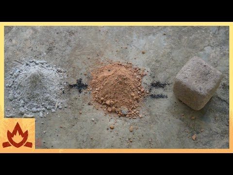 Primitive Technology: Wood Ash Cement