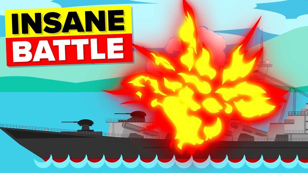 Sinking Of The Unsinkable German WW2 Battleship Bismarck