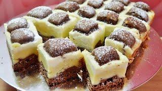 """Шоколадно-творожный пирог """"Подушки"""" (Стеганное одеяло)"""
