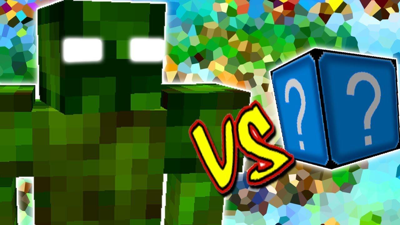 Monstro Verde Vs Lucky Block Cristal Minecraft Lucky Block