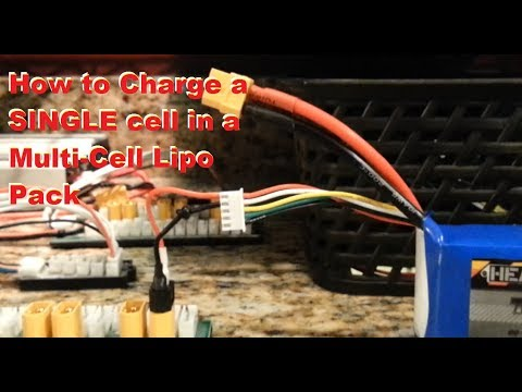 How to Charge a Single Cell in Unbalanced Multi Cell Lipo Pack