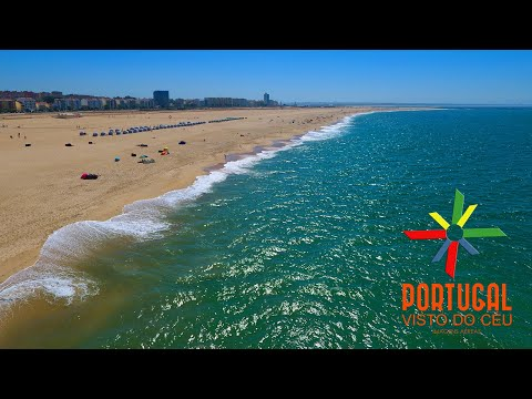 Figueira da Foz and Buarcos aerial view - 4K Ultra HD