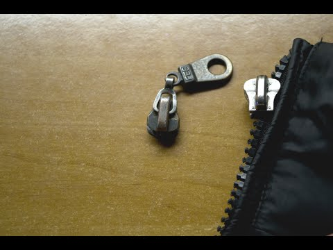 Замена бегунка молнии на куртке своими руками видео