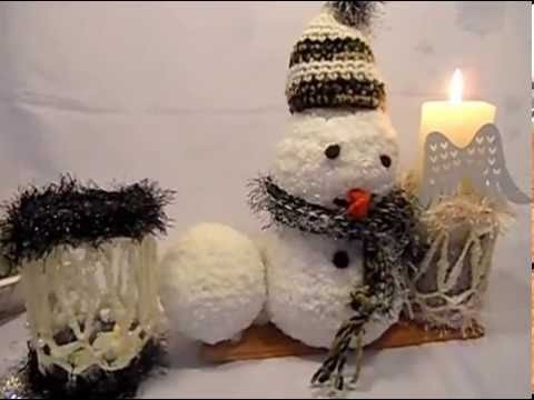 diy kekaplauderei winter schneemann deko idee zum selber machen h keln youtube. Black Bedroom Furniture Sets. Home Design Ideas