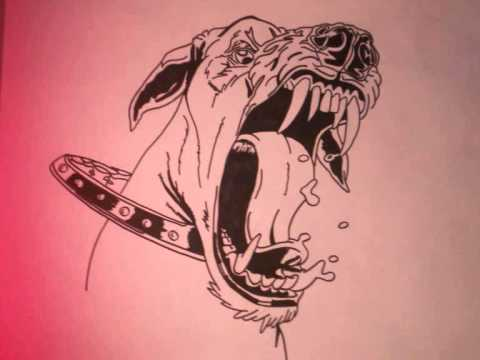 Dessin personnage chiens by mafe draw youtube - Dessin de pitbull ...