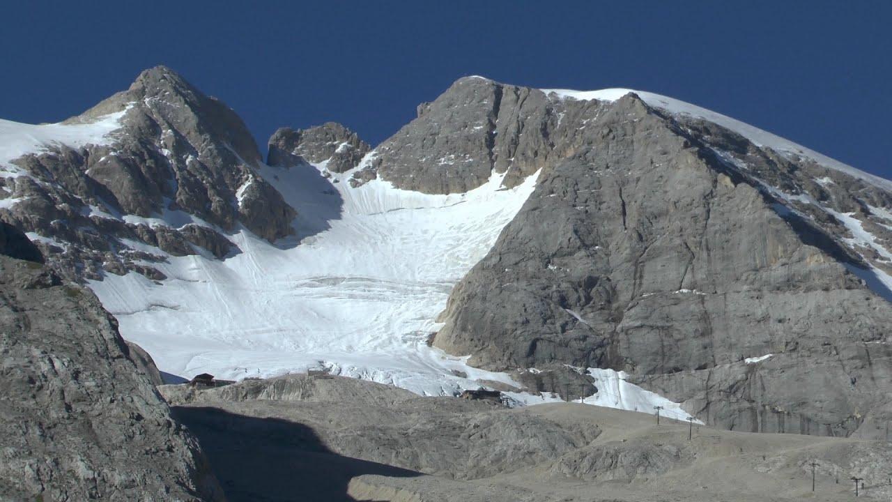 marmolada punta penia  3342mt  via normale del ghiacciaio