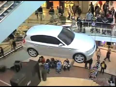 flying bmw 1series flying car event car show promotions youtube