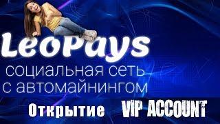 LeoPays активация vip пакета