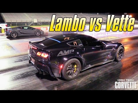 How's a Twin-Turbo Gallardo Do Against the World's Fastest Corvette Z06?
