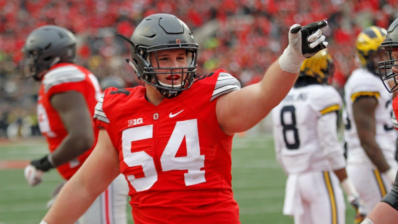 timeless design 55bd1 94a80 Billy Price (Ohio State OG) vs Michigan 2016