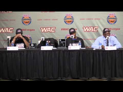 2016 WAC Basketball Tournament Postgame Presser - M's Game 6 - CSU Bakersfield