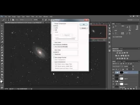 M81 M82 Processing Step 2 PixInsight and Photoshop