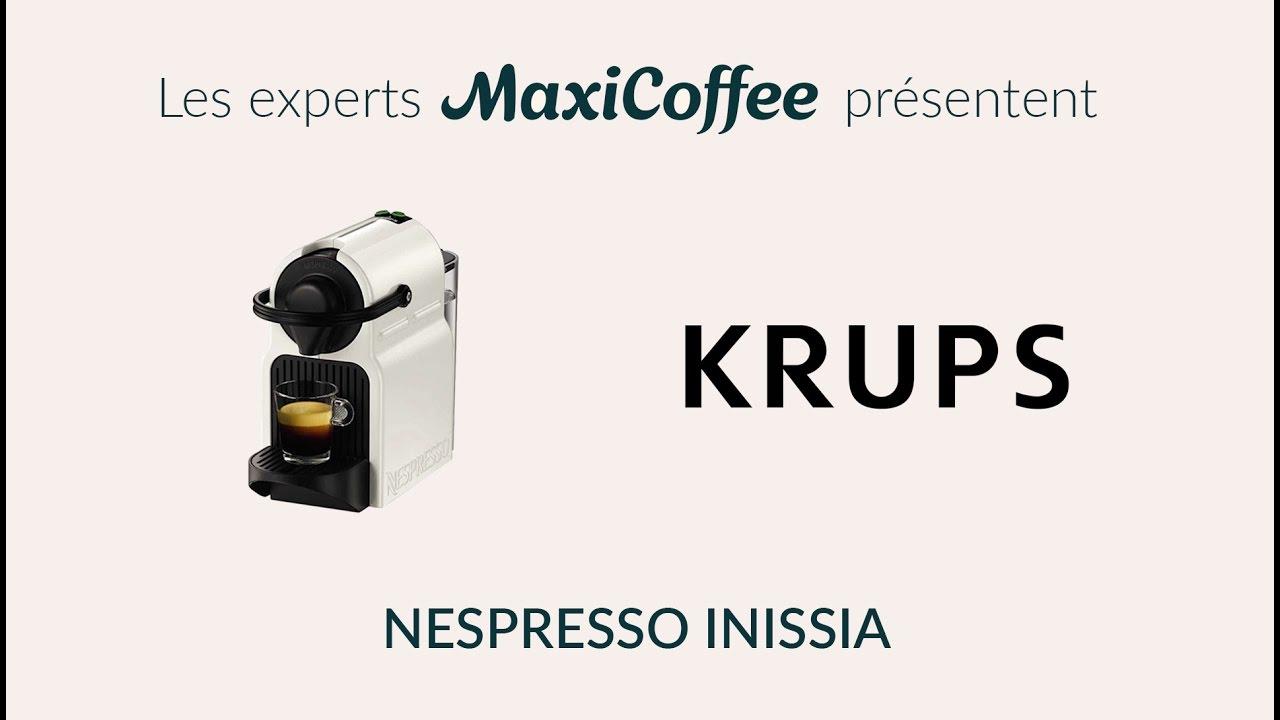 Nespresso Inissia Blanche nespresso inissia | machine à capsule | le test maxicoffee - youtube