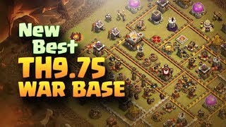 New Best TH9.75 Anti 3 Star War Base #5 | 275 Walls | CLASH OF CLANS | 2017 |