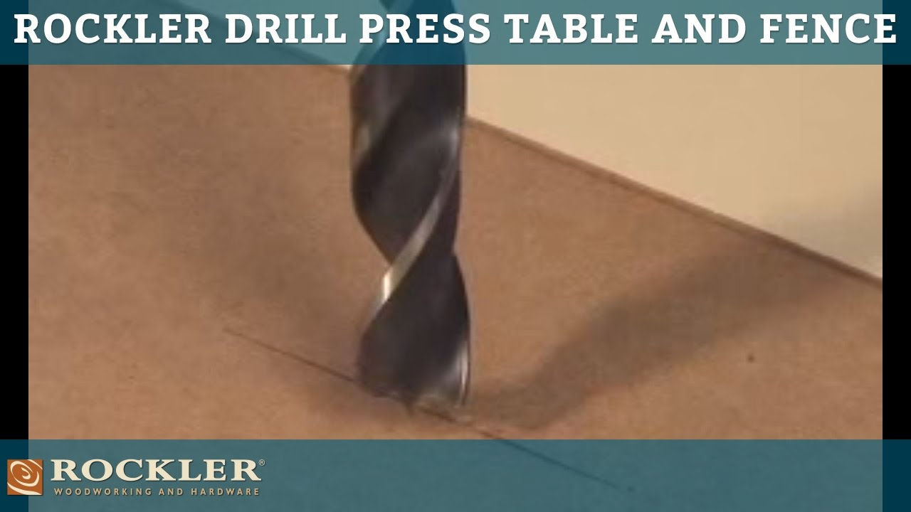 Rockler Drill Press Table and Fence - YouTube