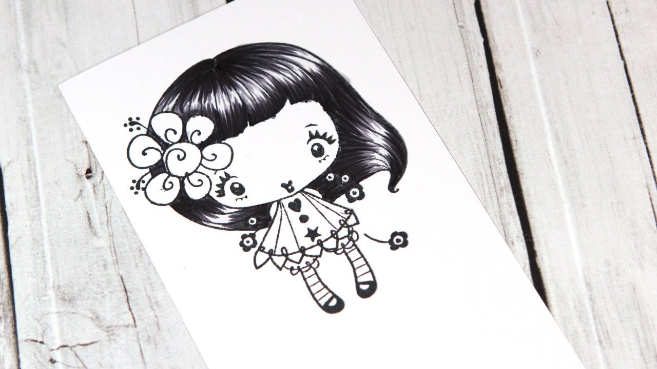 Color Wednesday 10 Black Hair With Copics The Greeting Farm