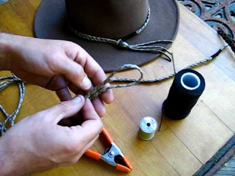 2817acf1e80 How to make a simple paracord hat band - YouTube