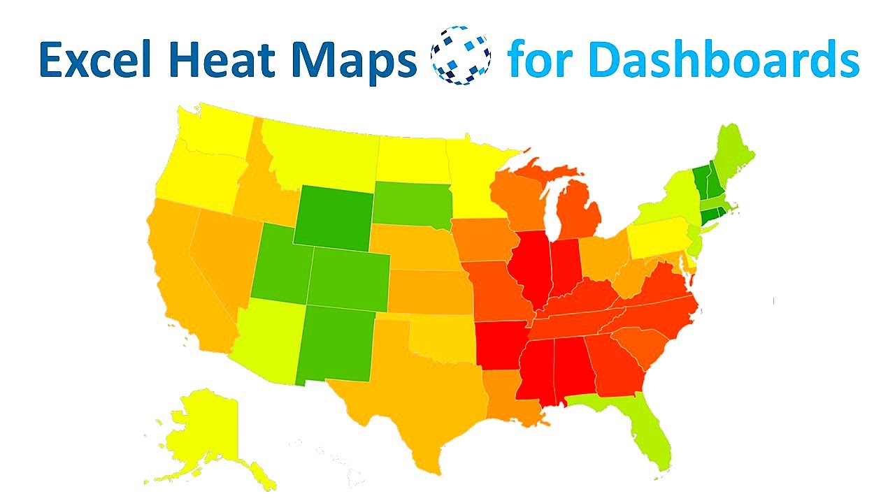 Dynamic Excel Heat Maps For Complex Data Dashboards YouTube - Excel us map