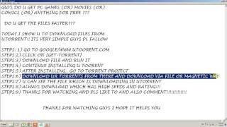 HOW TO DOWNLOAD AND INSTALL PC GAMES FROM TORRENT