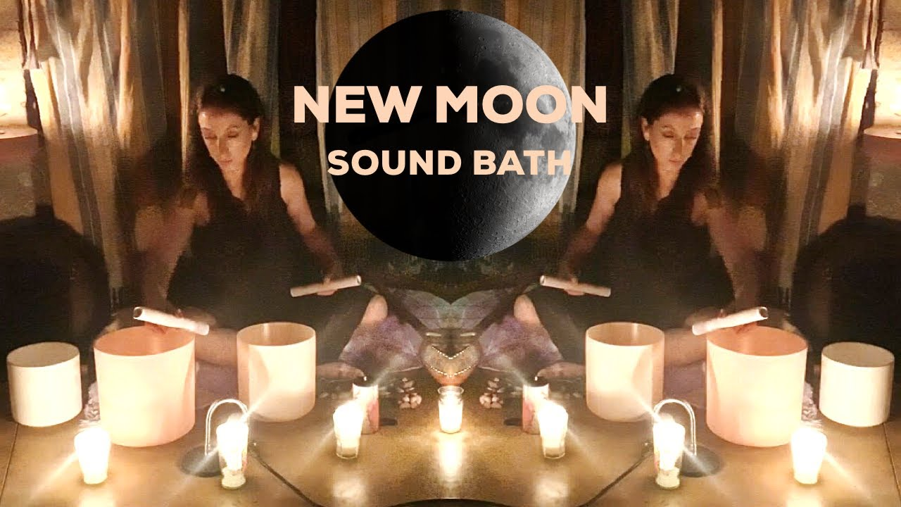 New Moon Sound Bath Crystal Singing Bowls Vocals Reiki Relaxation Healing Meditation Music 30min Youtube