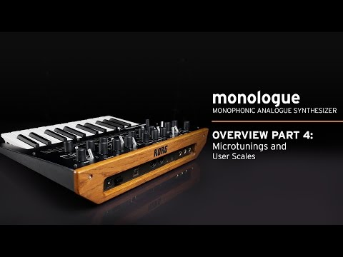 Korg monologue Video Overview Part 4: Sequencer, Microtunings, and User Scales [with CC]