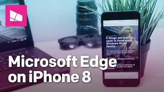 Microsoft Edge for iOS running on iPhone 8 Plus