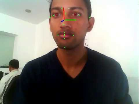 Real time eye tracking with head pose estimation