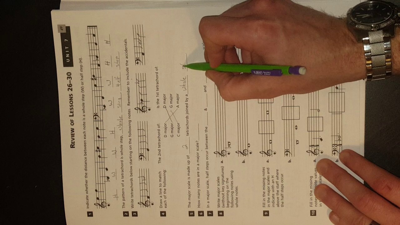 Alfred's Essentials of Music Theory Unit 7 Review