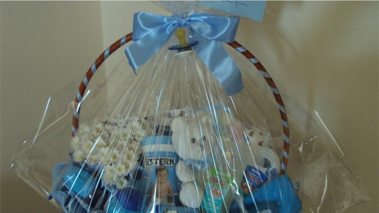 Curso como decorar cestas para presente cesta de beb - Cestas de mimbre para bebes ...