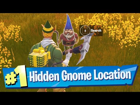 Search The Hidden Gnome Found Inbetween Fancy View, A Wooden Shack And A Big House Location Fortnite