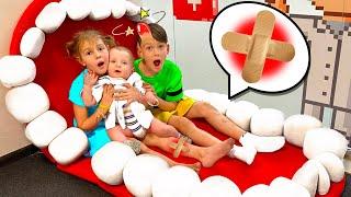 Five Kids Boo boo Song 2 Nursery Rhymes