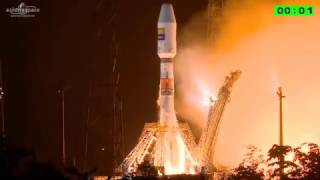 Soyuz Lifts Off From French Guiana With Hispasat 36W-1