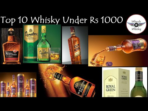 10 Whiskies Under Rs 1000 | Best Indian Budget Whisky | #wheelsofwhisky
