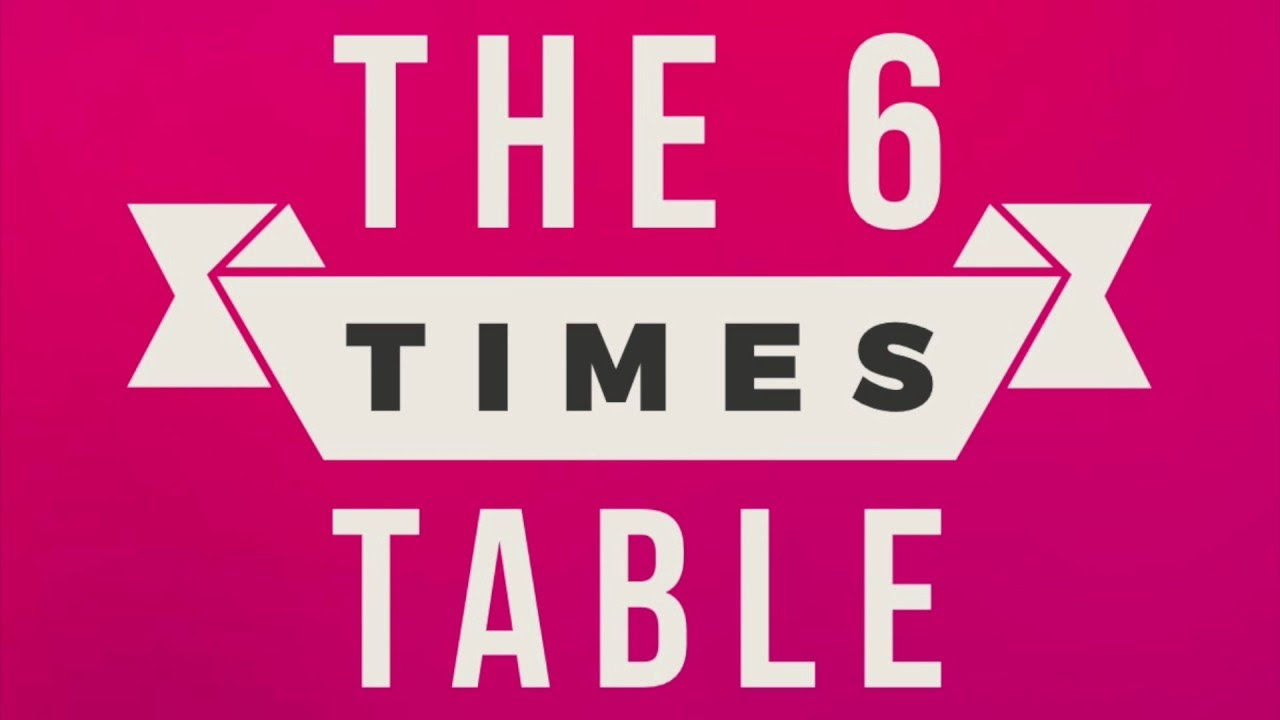6 times table song youtube for Table 6 song