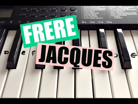 Frère Jacques | Easy Keyboard Tutorial With Notes (Right Hand)