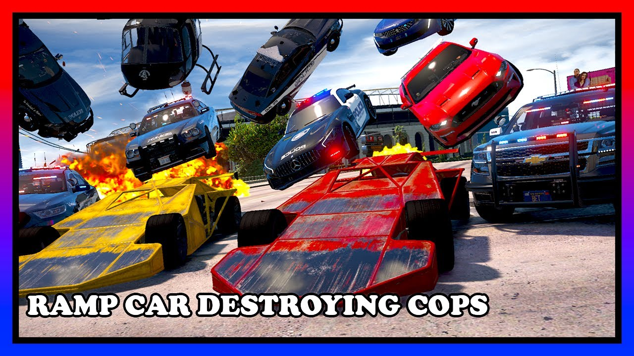 WE USED RAMP CARS TO DESTROY AND MESS WITH POLICE   GTA 5 ROLEPLAY   RedlineRP
