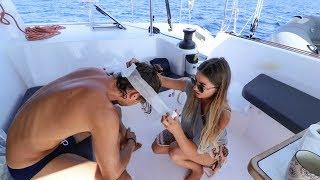 Reaction Video: Girls on Boat, Man Cracks Head Open!!