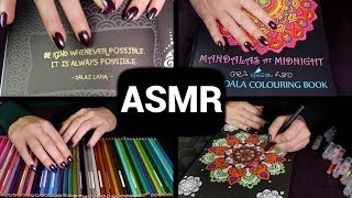 2 HOURS Coloring In ✏️ ASMR 🌟 No Talking / Unintelligible Whispers / Sleepy Layering