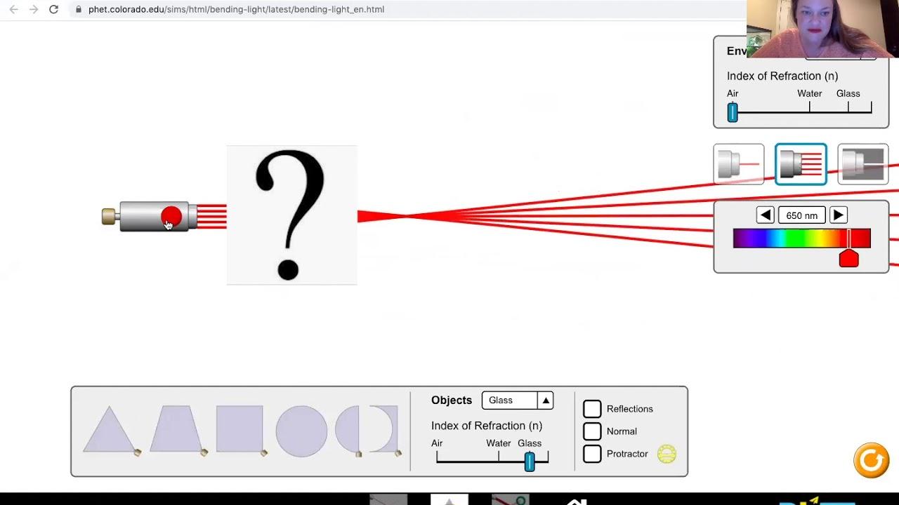 PHET Bending Light Convergence versus Divergence - YouTube