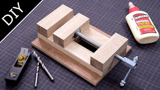 【Simple & Smart】Make a Wooden Vise - Drill Press Vise