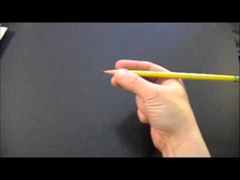 Learn Correct Pencil Grasp ( pencil pick up) Teaches Functional Dynamic Tripod Grasp 学会拿铅笔